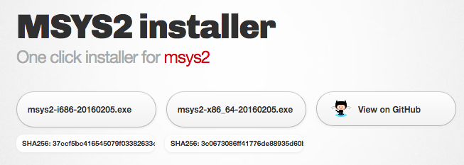 Msys2 Download